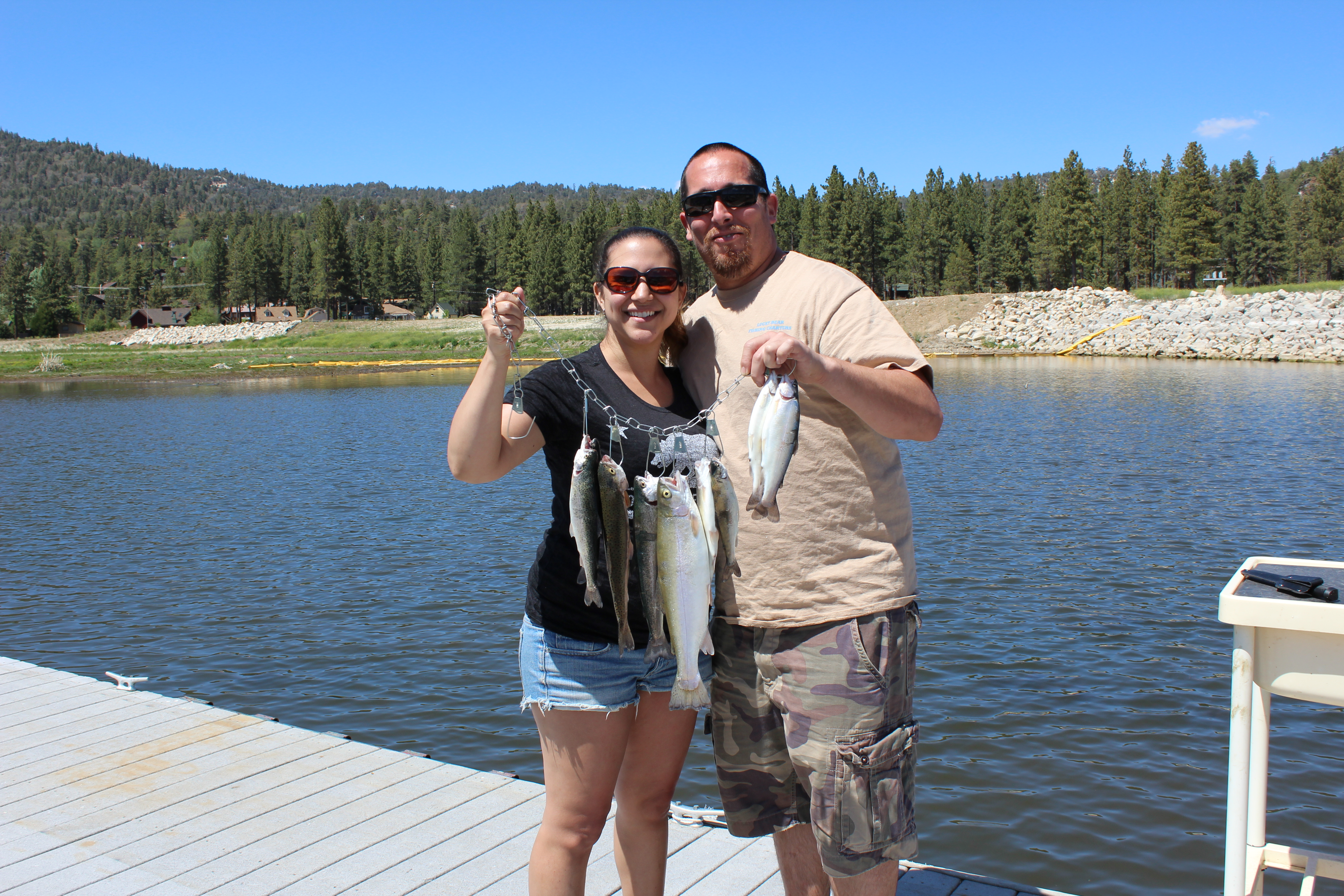 Fishing season 2015 started off hot trolling for rainbow for Fishing in big bear